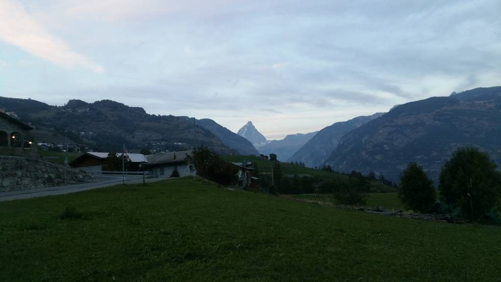 Orchards at the foot of the Matterhorn!